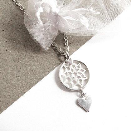 Heart dreamcatcher necklace