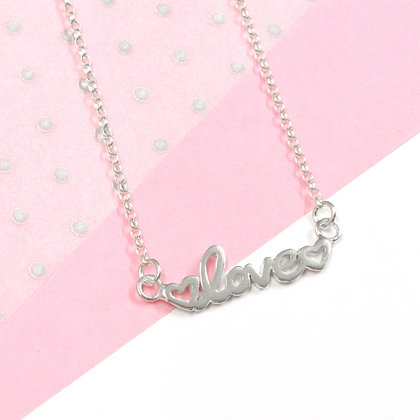 Double heart love necklace