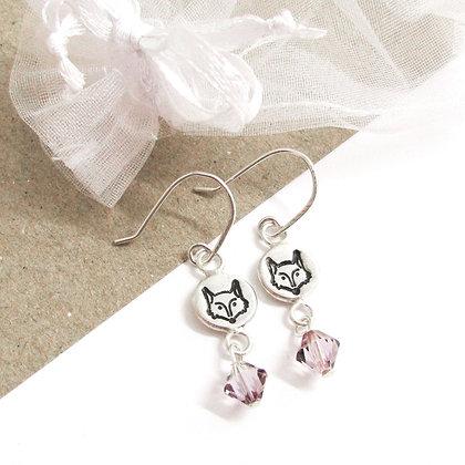 Fox hook earrings