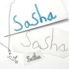 Sasha child handwriting necklace