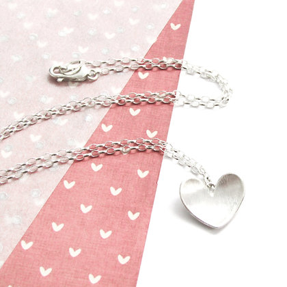 Domed heart necklace