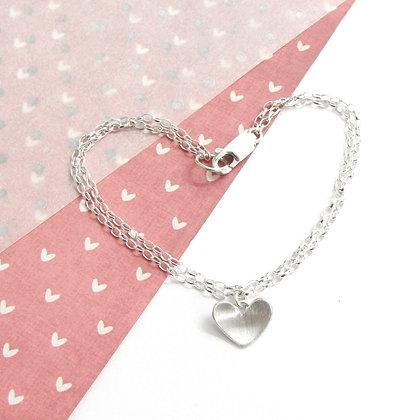 Domed heart bracelet