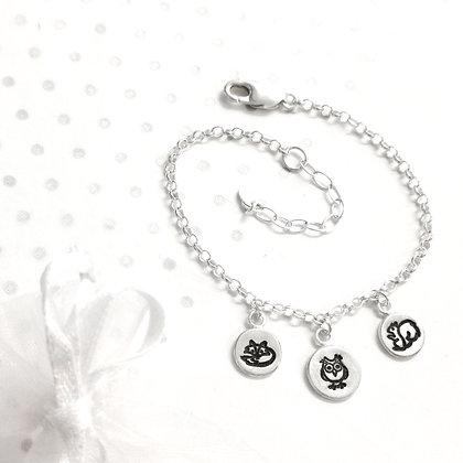Woodland charm bracelet