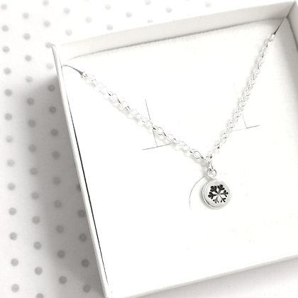 Snowflake circle bracelet