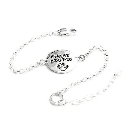 Personalised circle bracelet