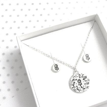 Mandala dreamcatcher gift set