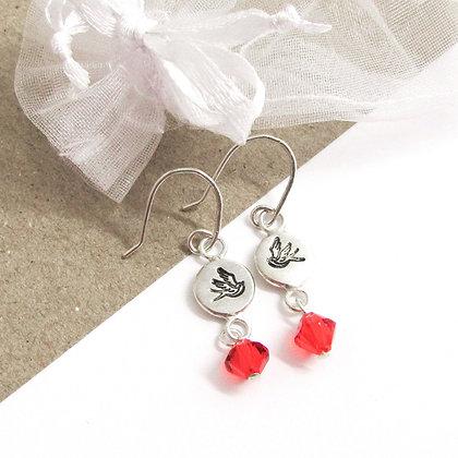 Swallow hook earrings