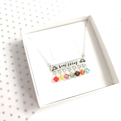 Rainbow bar keep going necklace