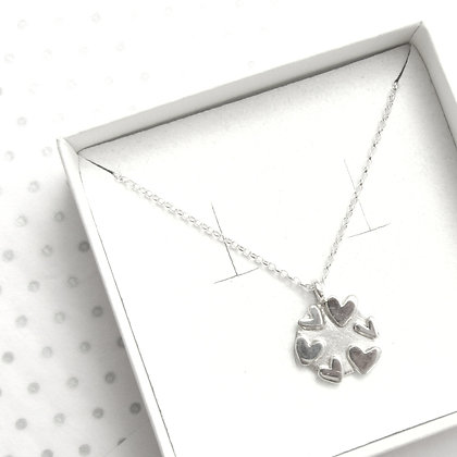 Multi circle heart necklace