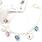 Blue pink swarovski bracelet