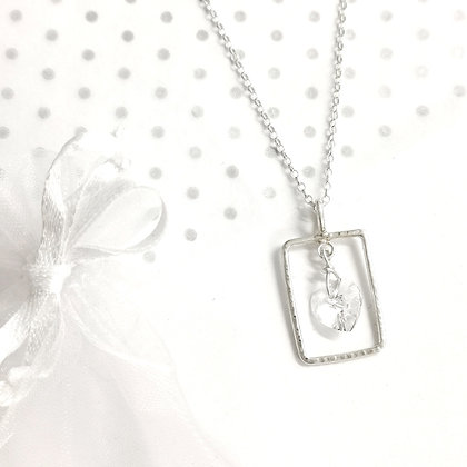 Clear heart swarovski necklace