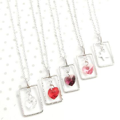 Swarovski wire charm necklace