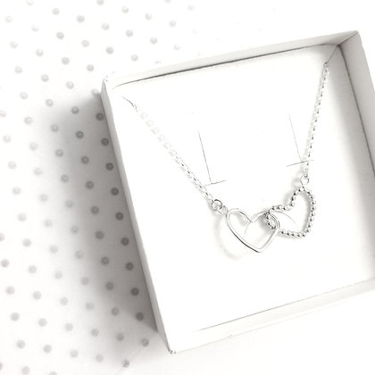 Entwined heart necklace - Buttercup
