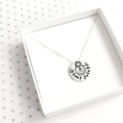 Celestial keep going necklace