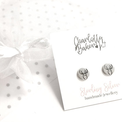 Stag circle studs
