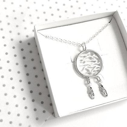 Tiger dreamcatcher necklace