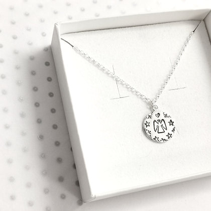 Angel snow necklace