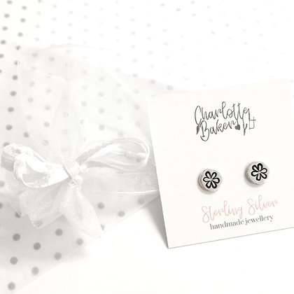Whimsy flower circle studs
