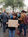 Roos Blufpand op de klimaat mars