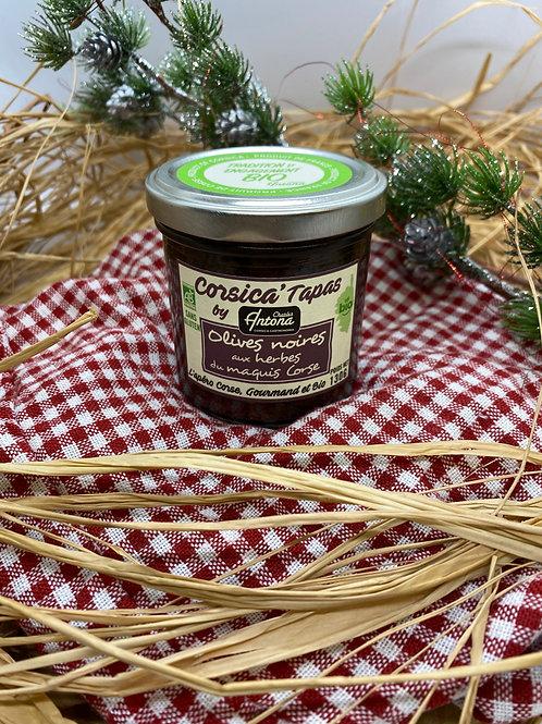 Tapas aux Olives noires aux Herbes du Maquis Corse