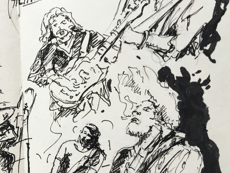 Disegnare nell'ambito del Buskers Festival