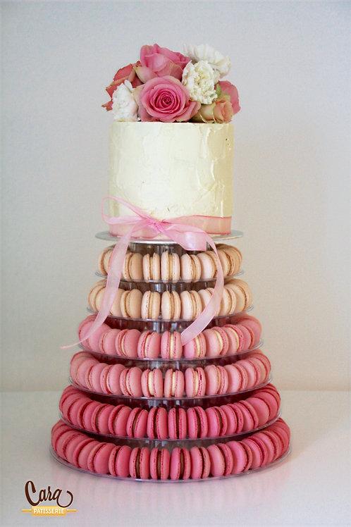 Huwelijkstaart / macaron toren.