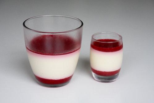 Panna cotta glaasje, klein of groot