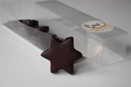 Marsepein, chocolade sterren.
