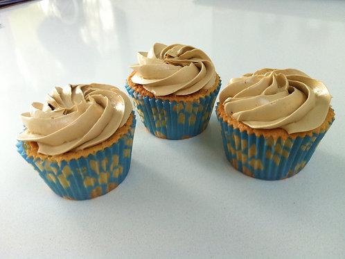 Cupcake praliné, klein of groot