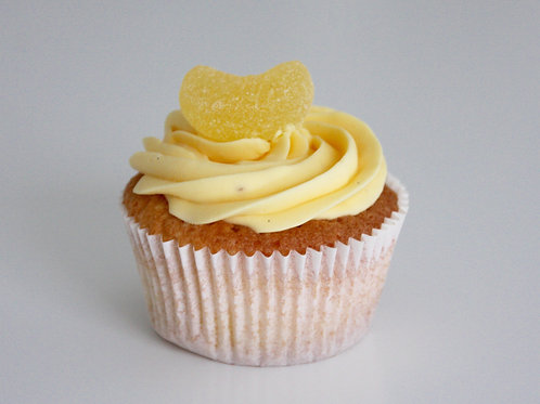Cupcake citroen, klein of groot