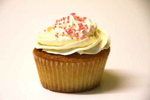 Cupcake vanille, klein of groot