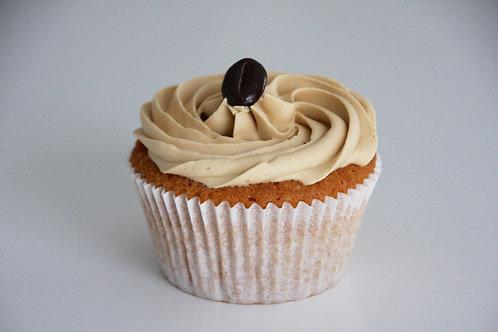 Cupcake mokka, klein of groot
