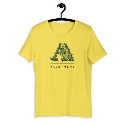 Short-Sleeve Unisex T-Shirt Allotment Green Logo