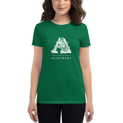 Women's short sleeve t-shirt Allotment white logo