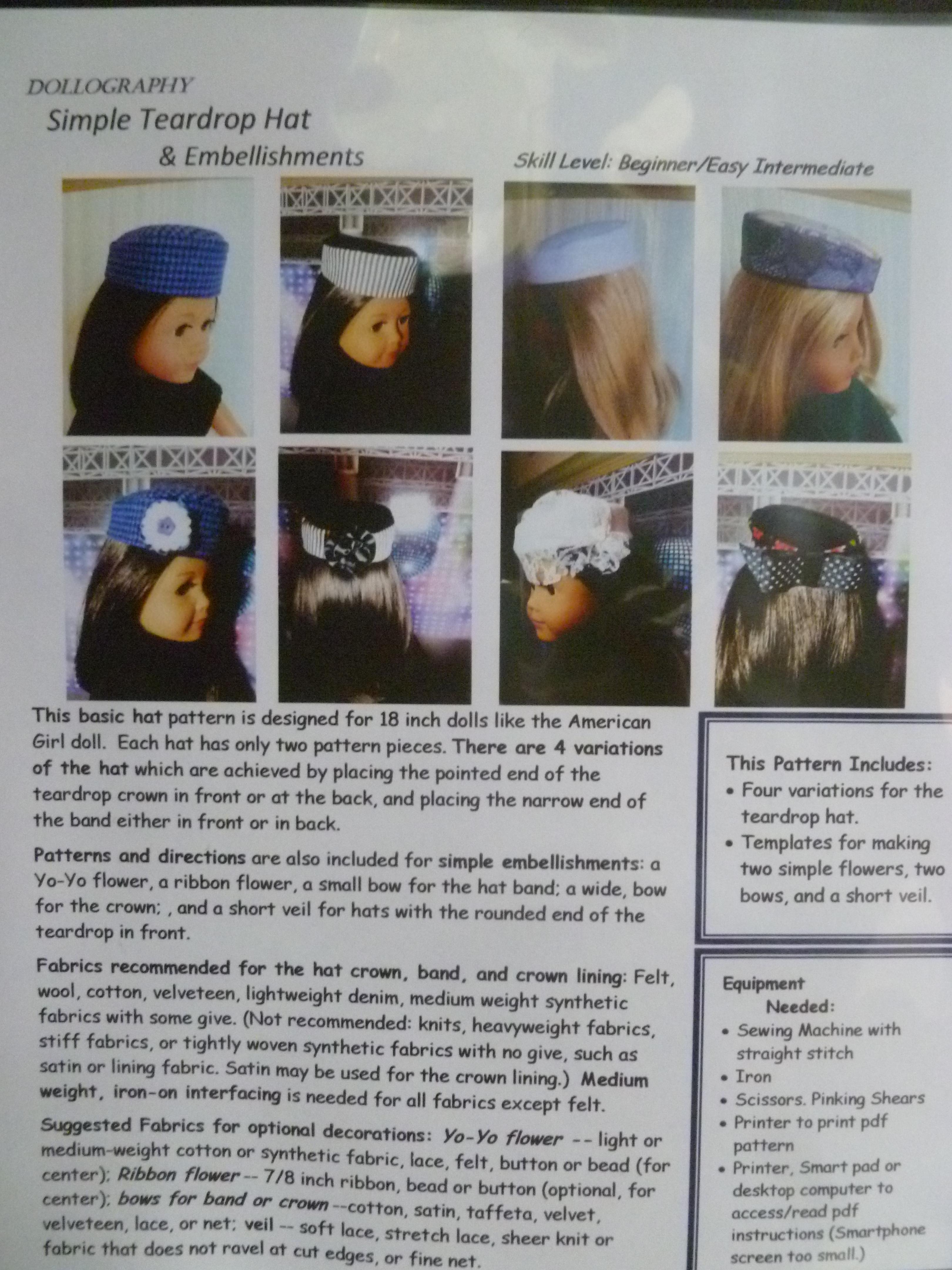 Simple Teardrop Hat Pattern
