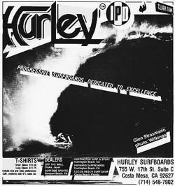 Hurley Surfboards Ad