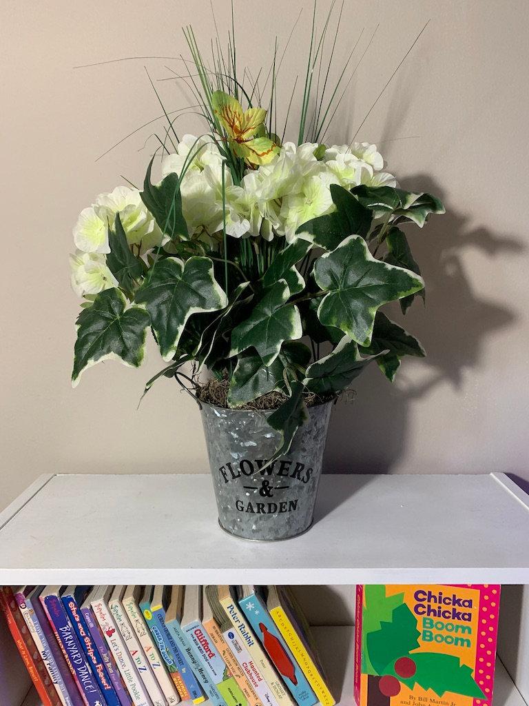 Galvanized Bucket Flower Planter R L Hand Home Decor