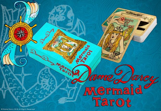 Gold Edition Mermaid Tarot with box! Tropic-Goth Cabaret on DD birthday 6/19 +more!