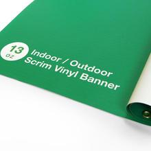 Indoor/Outdoor Scrim Vinyl Banner 13oz