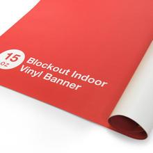 Indoor Blockout Vinyl Banner 15 oz