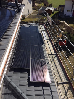 e-solaire installation Jura-Bernois 2017 9 modules Kiota 300W