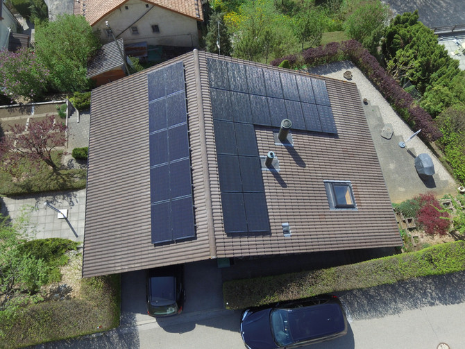e-solaire, Installation 9.00kWc - Mai 2018