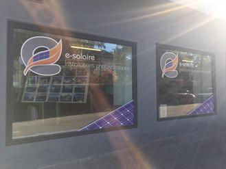 e-solaire vitrine showroom rue des Fleur