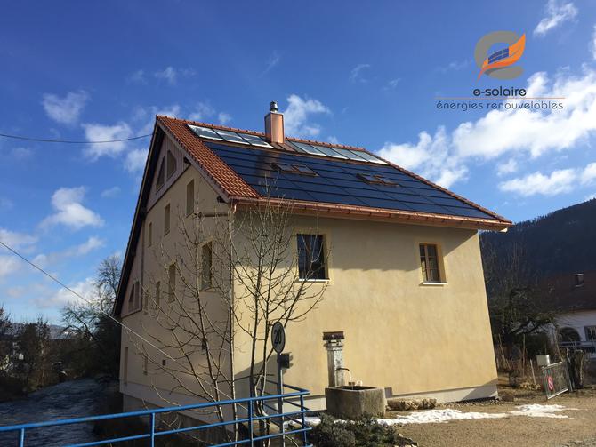 e-solaire installation photovoltaïque intégrée