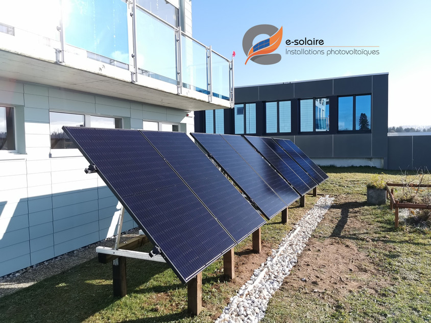 e-solaire instalation au sol modules QCe