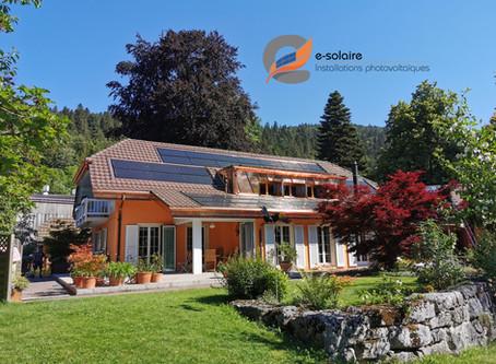 e-solaire installation intégrée Aleo Solrif, système SolarEdge, puissance 21.17kWc.