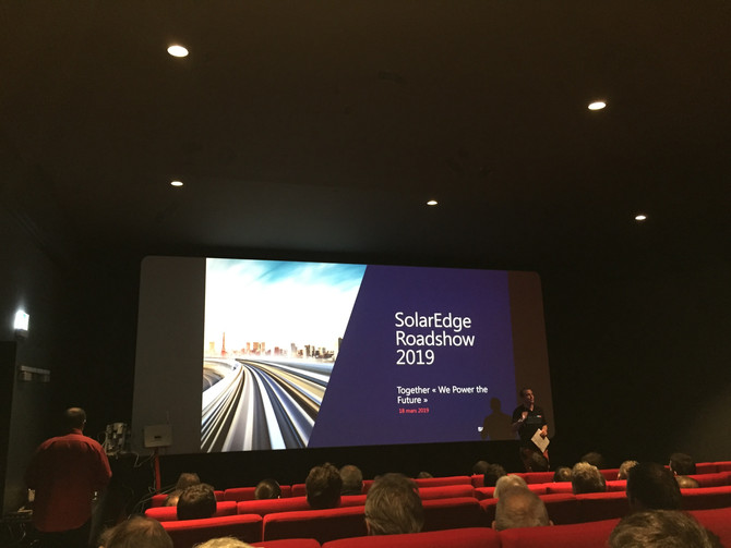 Participation du Team e-solaire au SolarEdge roadshow 2019 à Lausanne, Suisse.