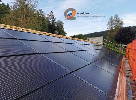 e-solaire installation intégrée Aleo X83 Prenium Solrif, système SolarEdge, puissance 13 kWc.