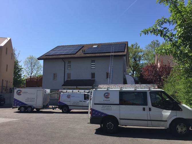e-solaire, Installation deux fois 9.00kWc - Avril 2018