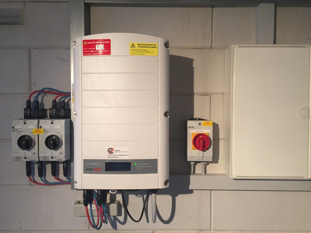 e-solaire installation Solaredge 17.4kWc